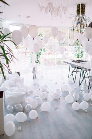 украшение воздушными шарами на свадьбу